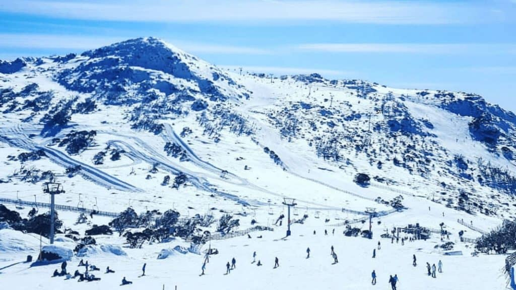 Migrants playing in NSW snowy mountains