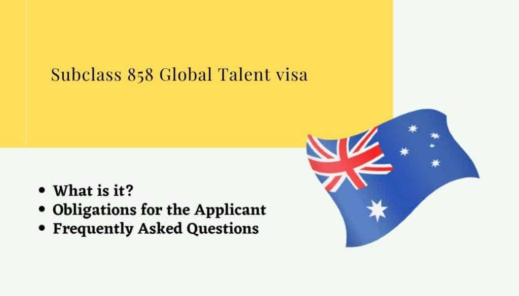 Subclass 858 Global Talent visa