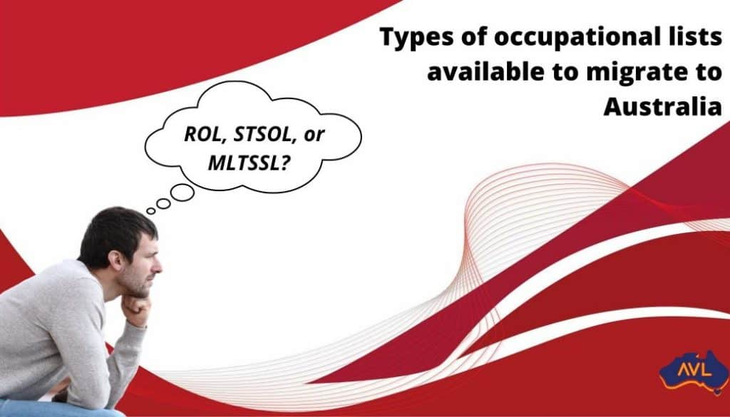 Types of Occupational lists available to migrate to Australia