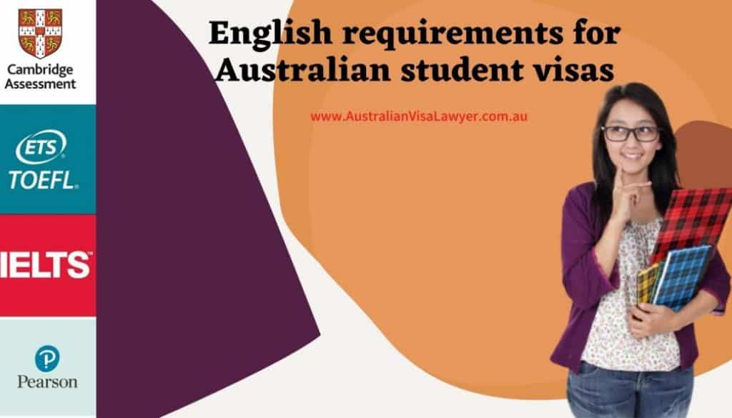 English requirements for Australian student visas