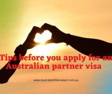Tips before you apply for an Australian partner visa